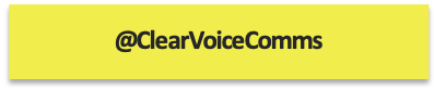 tweet @clearvoicecomms, ClearVoice Comms, Silke Brittain, have your say,