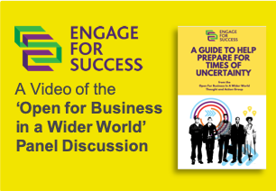 Engage for Success, Thought and Action Group, TAG, Open for Business in a Wider World, Video, Panel Discussion, Silke Brittain, ClearVoice Comms,