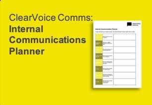 IC, Internal Communications Planner, ClearVoice Comms, Silke Brittain