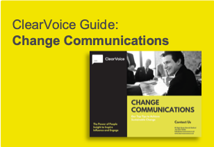 ClearVoice Guide: Change Communications, ClearVoice Comms, Silke Brittain