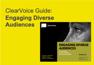 ClearVoice Guide: Engaging Diverse Audiences, Silke Brittain, ClearVoice Comms, diversity, inclusion, D&I