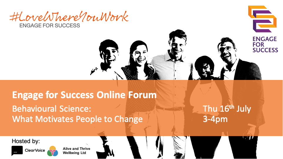 Engage for Success Online Forum 16 July