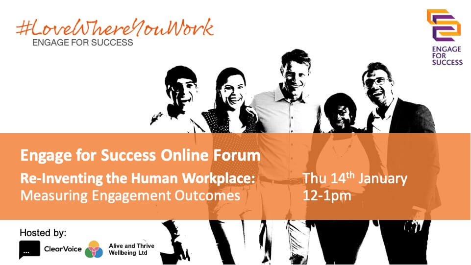 Measuring Engagement Outcomes, Virtual Engagement, Virtual Experience, People Analytics, EFS Online Forum 14 January