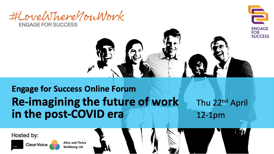Re-imagining the future of work in the post-COVID era - Webinar